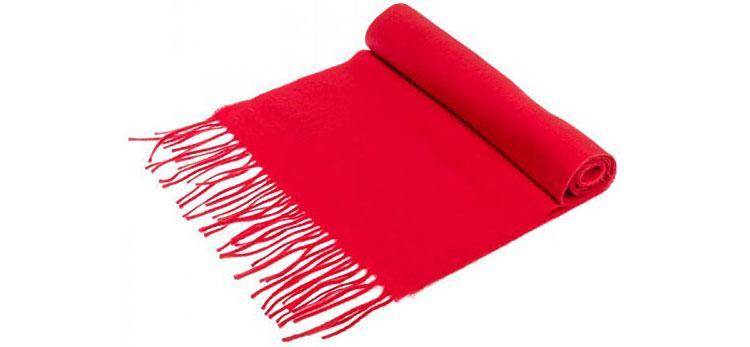 Écharpe en laine cachemire rouge