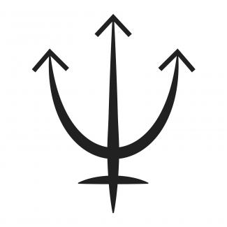 Symbole de la planète Neptune