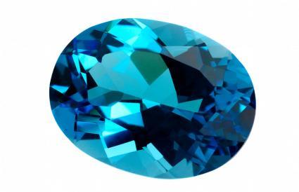 Pierre gemme de topaze bleue
