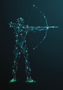 Sagittaire avec arc et flèche