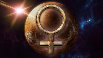 Symbole de l'horoscope du zodiaque or Vénus