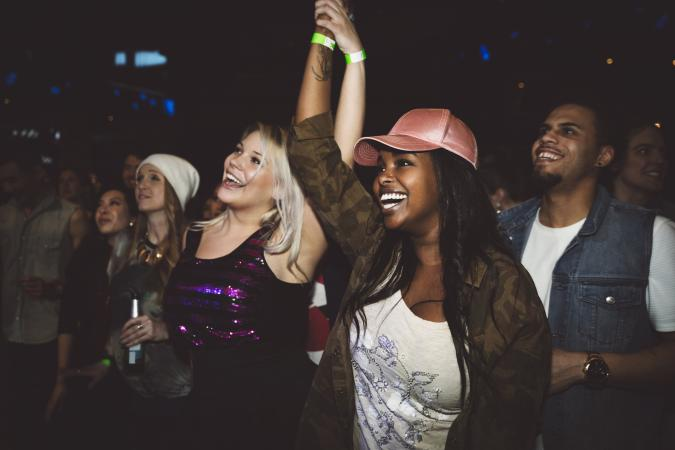Women at a concert