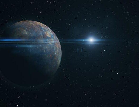 Rendering of the planet mercury