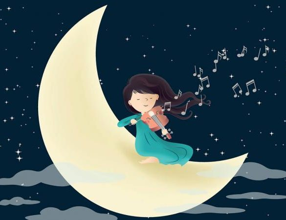 moon and musical notes