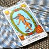 World Tarot Card on Table