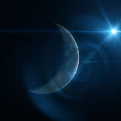New Moon in Space