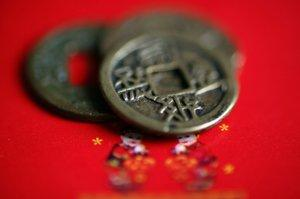 Image of lucky coins for I Ching