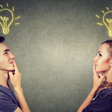 couple having great idea
