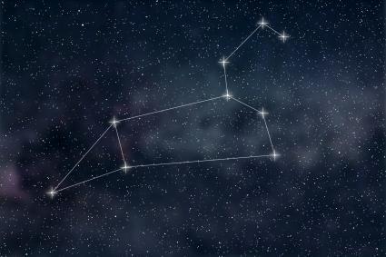 Lignes de constellation du signe du zodiaque Leo