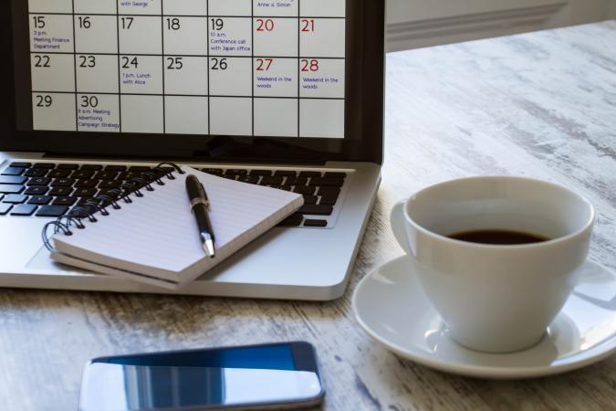 calendrier pour ordinateur portable