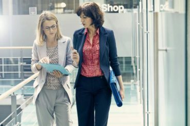 business women having discussion