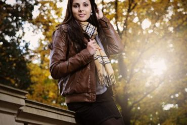 Capricorn woman in autumn outfit