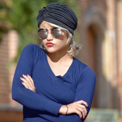 Woman Wearing Turban