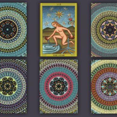 Star Tarot Card face up